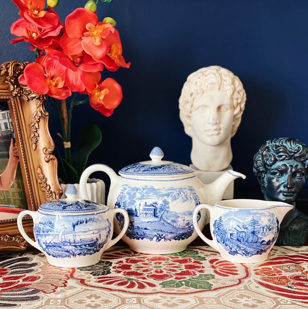 Johnson Brothers Historic America Tea Set
