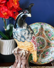 "Large 14"" Hand Made Italian Pottery Quail Figurine"