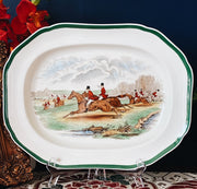 "Large 14"" Spode The Herring Hunt Oval Platter"