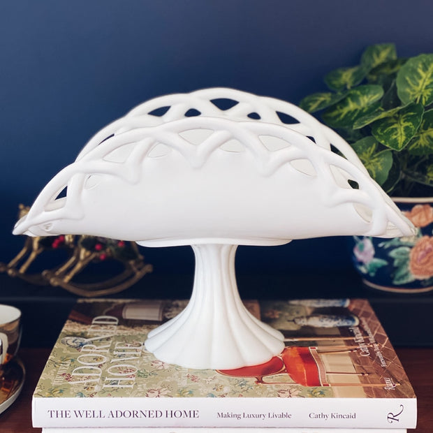 Large Mid-Century Milk Glass Pedestal