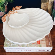 Vintage Shell Shaped Chip & Dip Platter Set