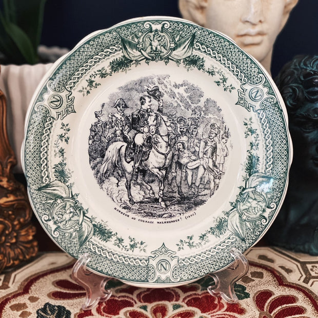 Sarreguemines Napoleon Plates Set of 6