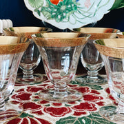 Tiffin Franciscan Gold Encrusted Oyster Glasses