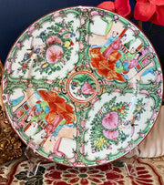 "Antique 10"" Chinese Rose Medallion Plates"