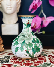 Chinese Green Cloisonne Small Vase