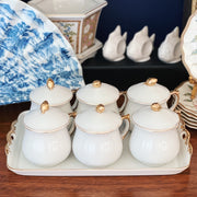 Vintage Pots De Creme Set With Tray by Shafford