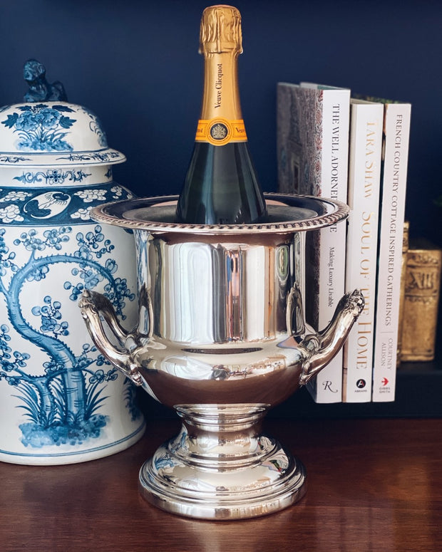 Vintage Silverplate Champagne Trophy Bucket