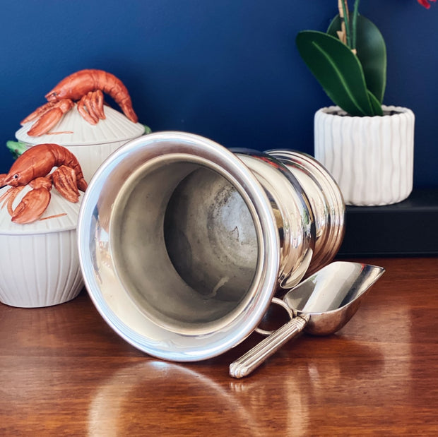 Vintage Silverplate Champagne Bucket With Scoop