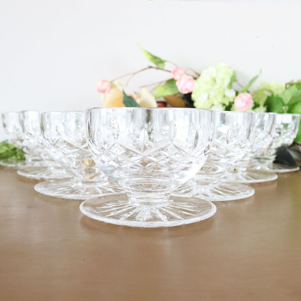 Vintage Waterford Cystal Footed Dessert Bowls, Lismore Collection