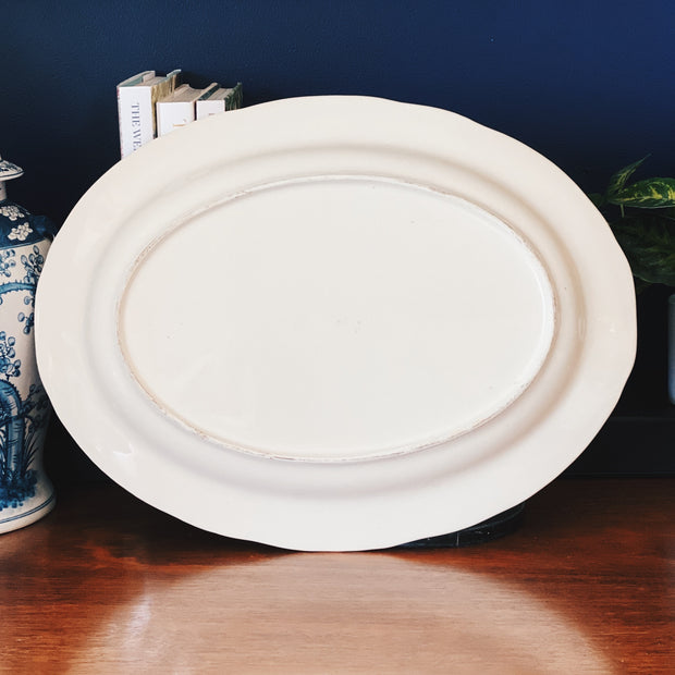 "Vintage 18"" Oval Turkey Platter"