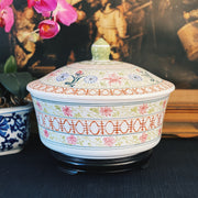 Large Chinoiserie Covered Bowl With Stand