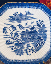 Antique Spode Blue Mandarin Square Cake Plate