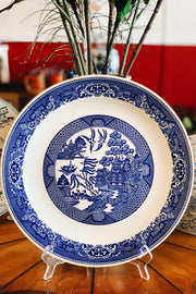 "Vintage Large 12"" Blue Willow Round Plate"