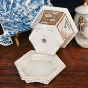 Small Hexagonal Cachepot With Saucer