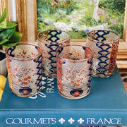 Mid-Century 22K Gold Culver Old Fashioned Chinoiserie GLasses