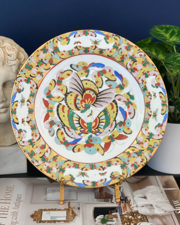 Vintage Chinese Thousand Butterflies Plates