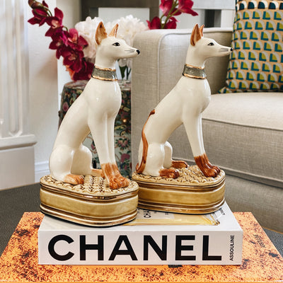 Andrea by Sadek Whippet Dog Bookends