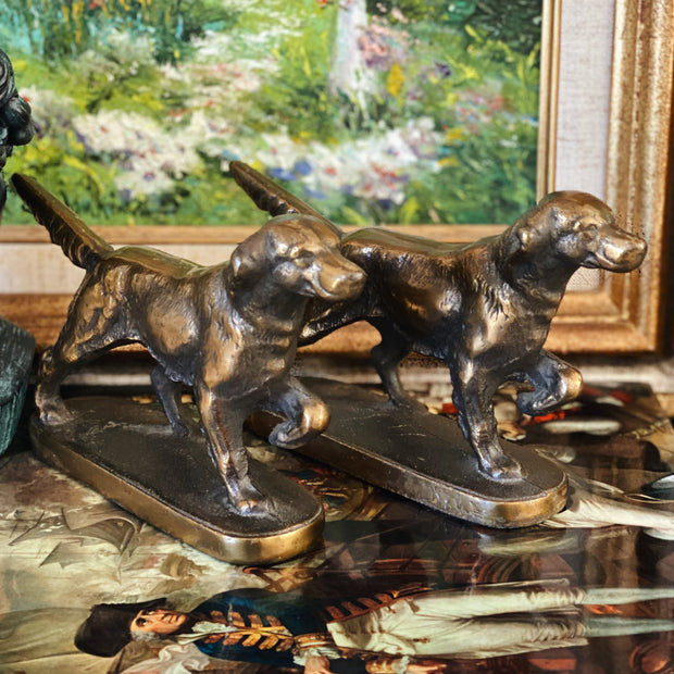 Pair Of Mid-Century Pointer Dog Bookends
