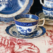 Booth's Real Old Willow Teacups & Saucers Set