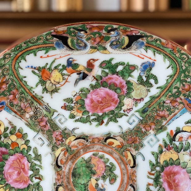 Famille Rose Canton Dragons & Phoenix Plate