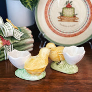 Pair Of Egg Cups Eggshell With Whole Chick