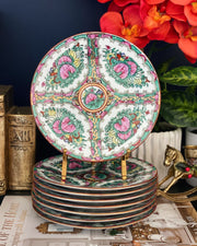 "Famille Rose Canton 7"" Decorative Plates Set"