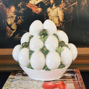 Italian Porcelain Egg Topiaries