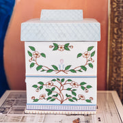 Lenox Village Tea Canister With Lid