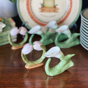 Bone China Calla Lilies & Tulips Napkin Rings