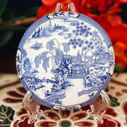 Blue Willow Porcelain Trinket Box