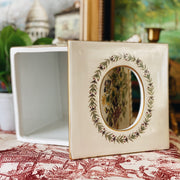 Chelsea House Botanical Porcelain Footed Tissue Box