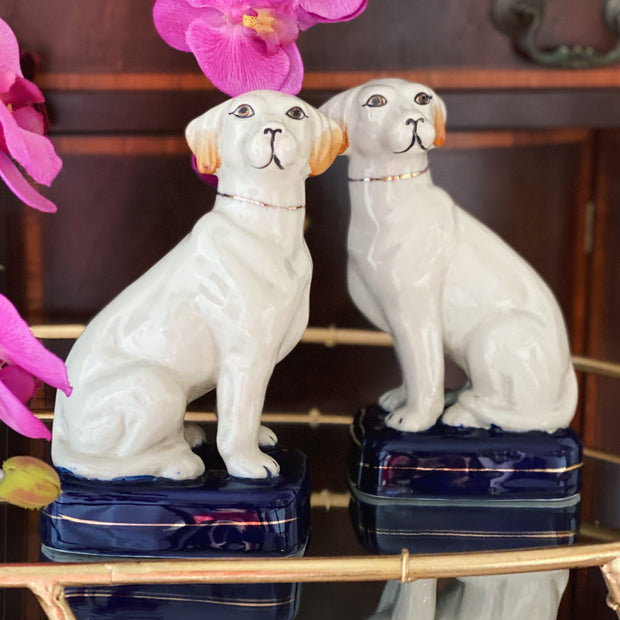 Pair Of Vintage English Staffordshire Dogs Figurines