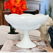Large Milk Glass Pedestal Centerpiece