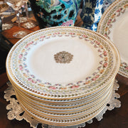 1900s Antique Limoges Gold Dinner Plates by the French Pouyat Pottery for Wanamaker