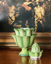 Green Ceramic Artichoke Tulipiere