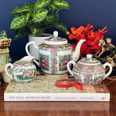 Famille Rose Canton Tea Set