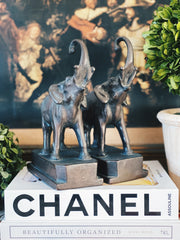 Pair Of Vintage Elephant Bookends