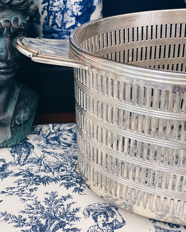 Gorgeous Silverplate Monogram Bread Basket