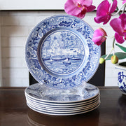 "8"" Blue & White Salad Plates by Johnson Brothers"