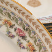 1900s Antique Limoges Gold Dinner Plates by French Pouyat Pottery
