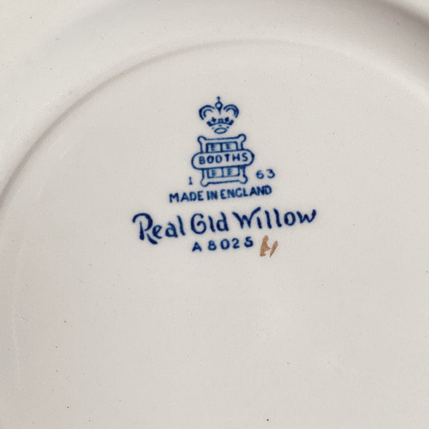Booth's Real Old Blue Willow Dessert/Pie Plates