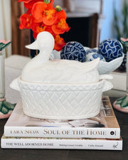 Japanese White Duck Tureen With Lid & Ladle