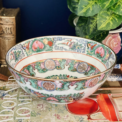 "8"" Rose Canton Decorative Bowl"