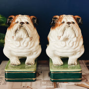 Vintage English Bulldog Bookends