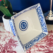Blue & White Square Pedestal Bowl