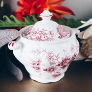 Ridgeway Staffordshire Sugar Bowl With Lid; Windsor Pink