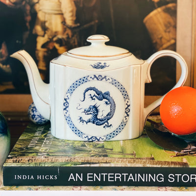 English Blue Dragon Teapot