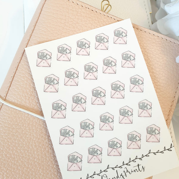 Pay Day Icon Sticker, Planner Stickers (W77)