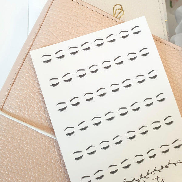 Eyelashes and Brows Icon Sticker, Planner Stickers (W79)