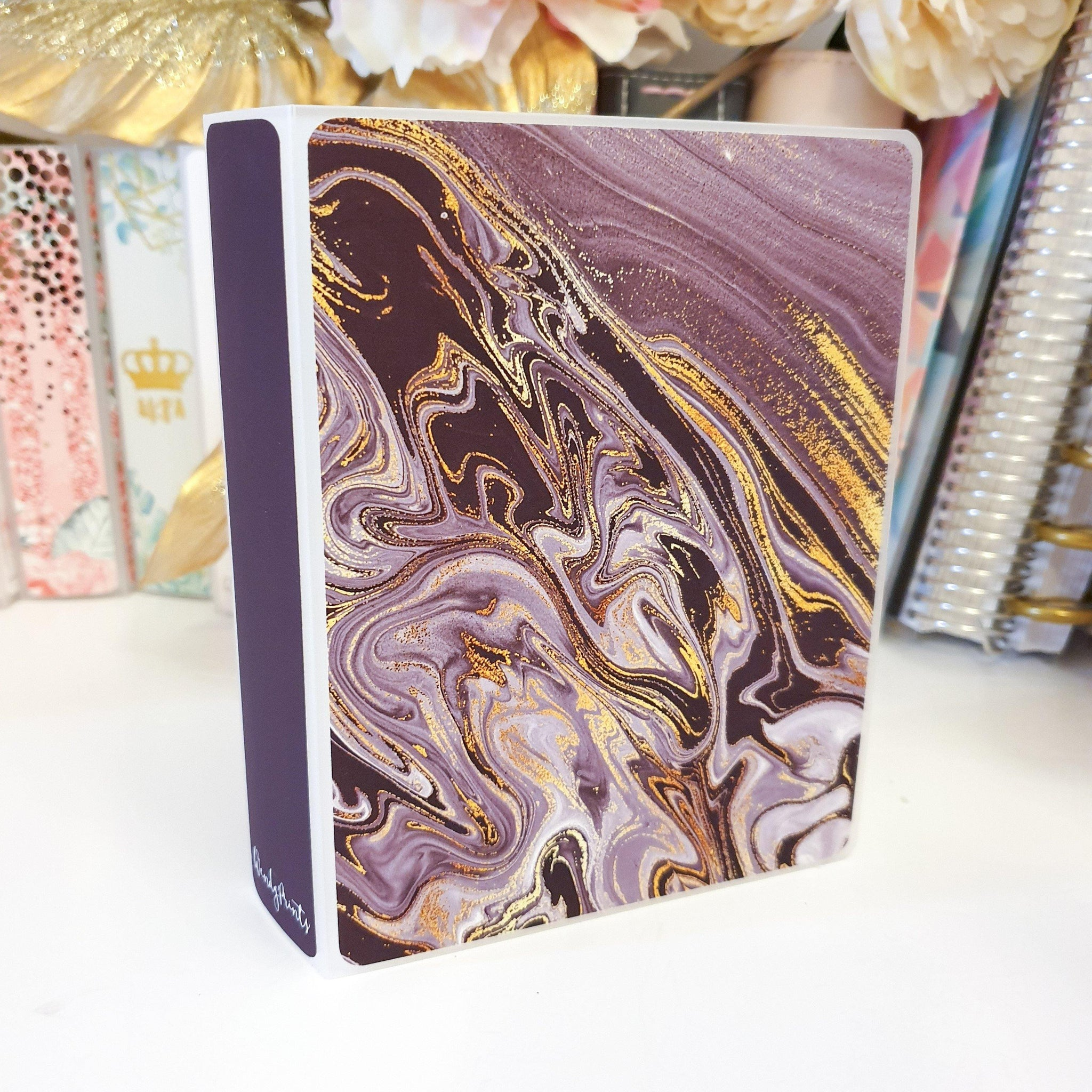 Dark Purple, MINI (4 x 6 inches), Sticker Album (A23M)